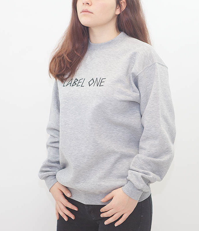 "LABEL ONE Sweater ""ONE"" GREY"