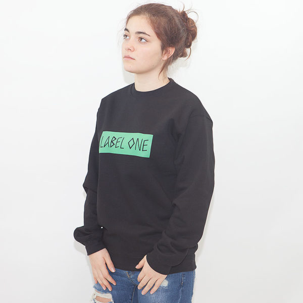 "LABEL ONE Sweater ""LOGO"" SCHWARZ"