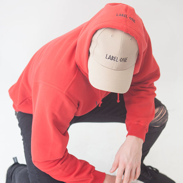 """Hoodie LABEL ONE """"ONE"""" RED"""